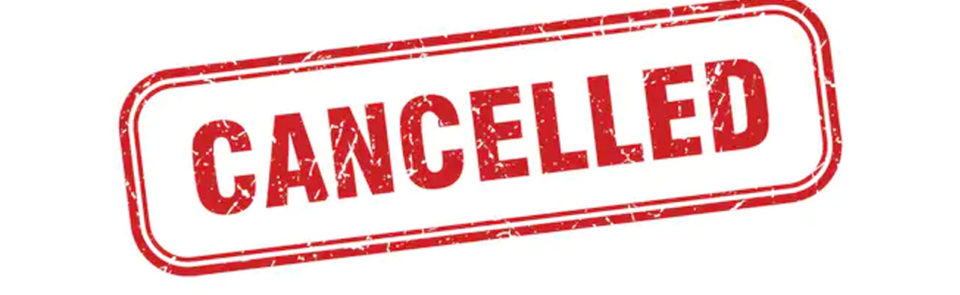 Service Canceled due to Covid19